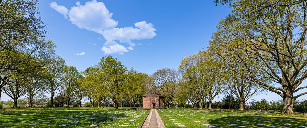 Uitzicht op kapel Menen